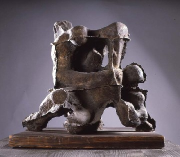 Francesco Somaini - Lotta con l'angelo - 1951 Bronzo