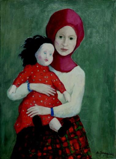 Bambina con passamontagna e bambola, Alberto Zampieri