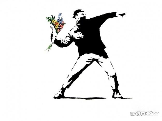 banksy-fiori